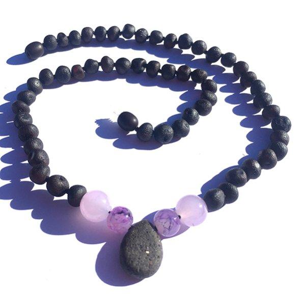 画像1: GEMSTONE ADULT NECKLACE - Diffusing Pendant (Lavender) (1)