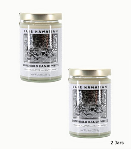 画像1: Ponoholo Ranch White Organic Clover with Kiawe Honey (2 Jars) (1)