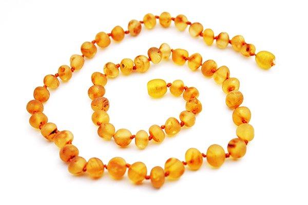 画像1: GEMSTONE ADULT NECKLACE - Baroque Raw (Unpolished) Honey (1)